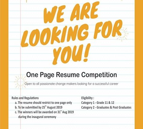 resume competition
